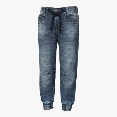 Tales & Stories Solid Boy's Denim Grey Track Pants