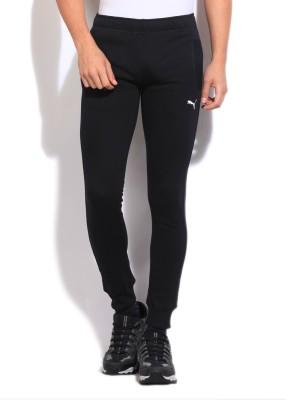 Puma Solid Men's Black Track Pants