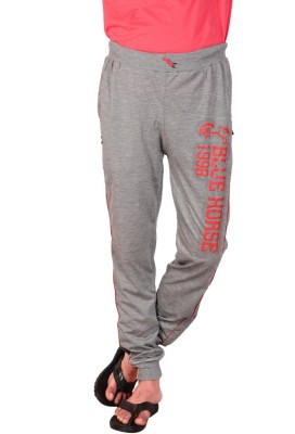 Blue Horse Printed Men's Grey Track Pants
