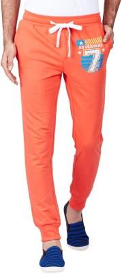 American Swan Printed Men's Orange Track Pants