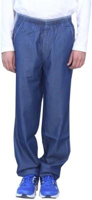 Romano Solid Men's Denim Blue Track Pants