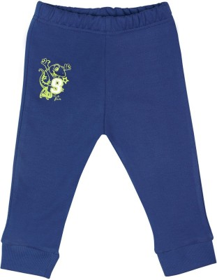 Wow Mom Solid Baby Boy,s Blue Track Pants