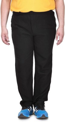 PlusS C Solid Men's Black Track Pants