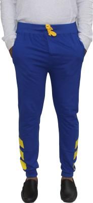 Body Tantrum Solid Men,s Blue Track Pants