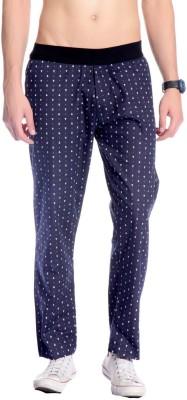 Goodkarma Printed Men's Blue Track Pants