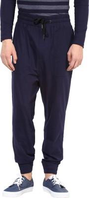 Hypernation Solid Men's Blue Track Pants