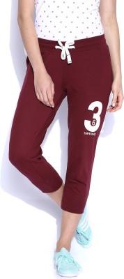 Harvard Woven Women's Maroon Track Pants