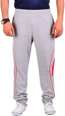 Vego Vego Cotton Grey Dual Zip Pocket Track Pant Solid Men's Grey Track Pants