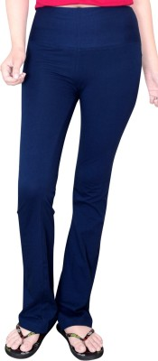 Comfty Solid Women's Blue Track Pants