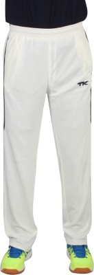 TK Match Embroidered Men's White Track Pants