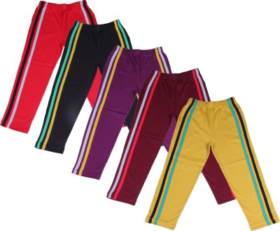 Provalley Solid Boy's Multicolor Track Pants