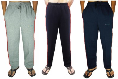 Bluedge Solid Men,s Grey, Black, Dark Blue Track Pants