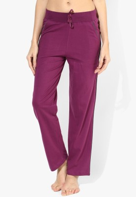 Red Rose Solid Women's Pink Track Pants