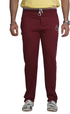 Allocate Solid Men,s Maroon Track Pants
