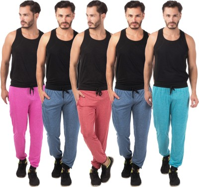 Meebaw Self Design Men's Red, Dark Blue, Dark Blue, Pink, Blue Track Pants