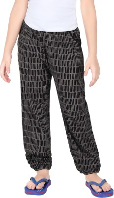Red RinG Striped Girl's Black Track Pants