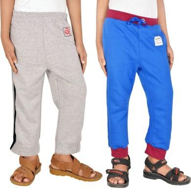 Gkidz Printed Boy,s Grey, Blue Track Pants
