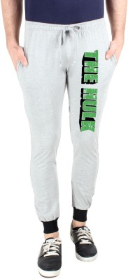 SayItLoud Printed Men's Grey Track Pants