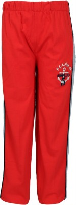 Triki 102-Red Striped Boy's Red Track Pants