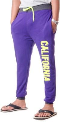 Shootr Solid Men,s Purple Track Pants
