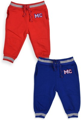 Mothercare Solid Baby Boy's Blue, Red Track Pants