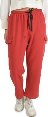 Bonhomie Self Design Women's Red Track Pants