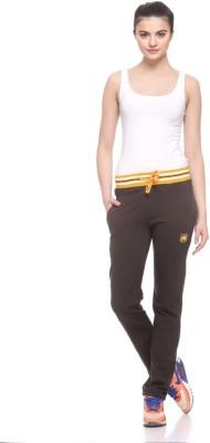 EX10SIVE Solid Women's Dark Green Track Pants