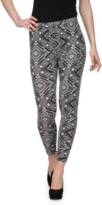 Aspasia Printed Women's Black Track Pants
