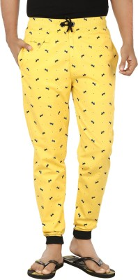 Fever Stylish Grace Animal Print Men's Yellow, Black Track Pants