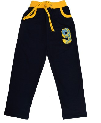 Crux&Hunter Solid Boy's Dark Blue Track Pants