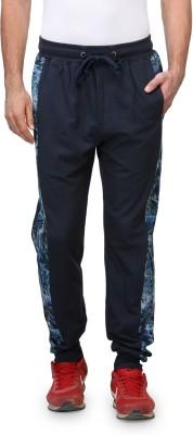 Wear Your Mind Printed Men's Dark Blue Track Pants