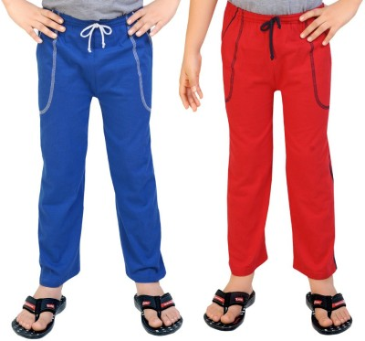 Be 13 Solid Baby Boy's Blue, Red Track Pants