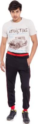 Super Active Solid Men's Black, Red Track Pants
