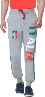 Body Tantrum Printed Men,s Grey Track Pants