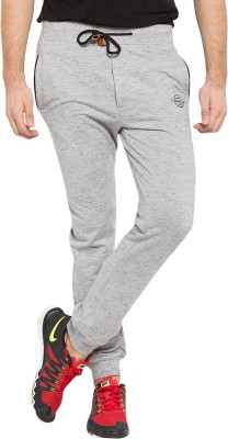Status Quo Solid Men's Silver Track Pants