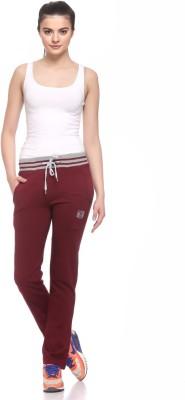 EX10SIVE Solid Women's Maroon Track Pants