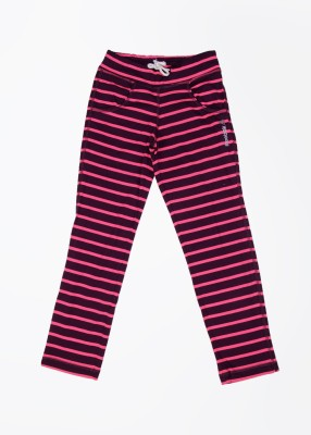 Reebok Striped Boy's Pink, Purple Track Pants