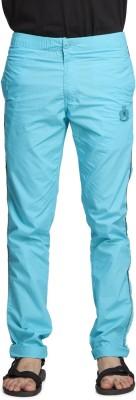 Beevee Solid Men's Blue Track Pants