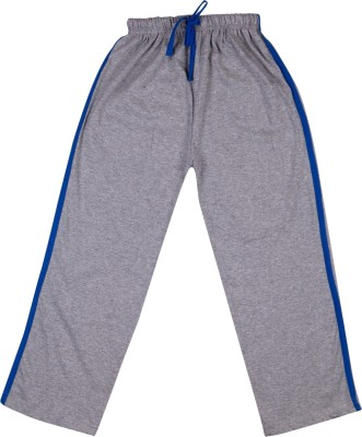 Hunny Bunny Solid Girl's Grey Track Pants