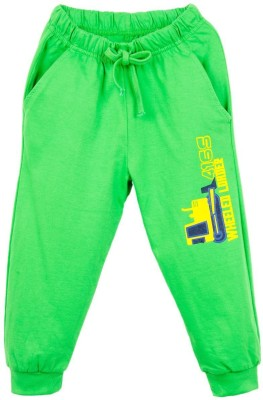 Oye Printed Baby Boy's Green Track Pants