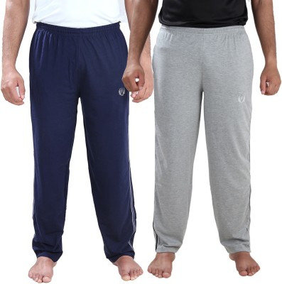 Illicit Nation Solid Men's Dark Blue, Grey Track Pants