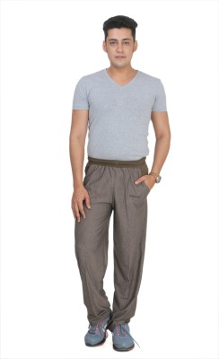 Broche Striped Men's Brown Track Pants