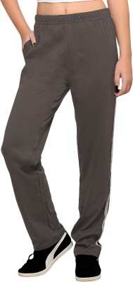 Towngirl Charcoal Solid Women's Grey Track Pants