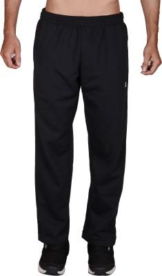 Wermin Solid Men's Black Track Pants