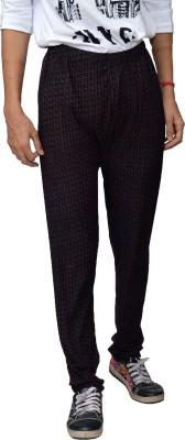 Crux&Hunter Self Design Women's Purple Track Pants