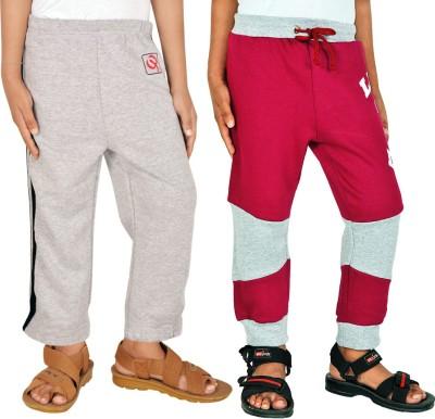 Gkidz Solid Boy,s Grey, Maroon Track Pants