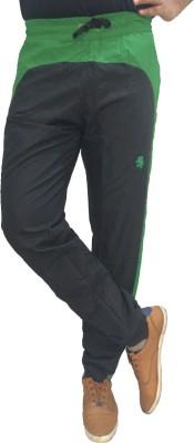 London Eye Solid Men's Green Track Pants