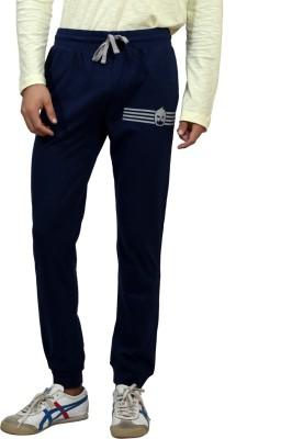 Magnoguy Mascut Print Solid Men's Blue Track Pants