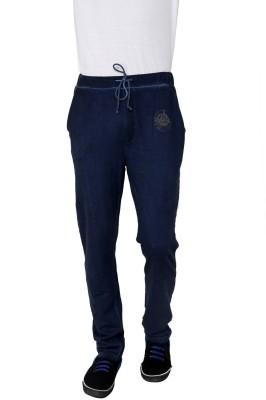 Era of Attitude Solid Men's Blue Track Pants