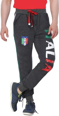 Body Tantrum Printed Men,s Black Track Pants
